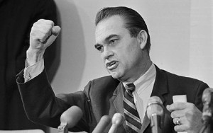 George Wallace on the campaign trail in 1968 --- Image by Bettmann/CORBIS