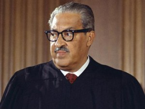 Justice Thurgood Marshall, the anti-Clarence Thomas.