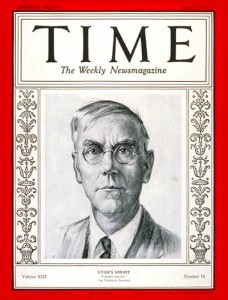 Utah Senator Reed Smoot on the cover of Time